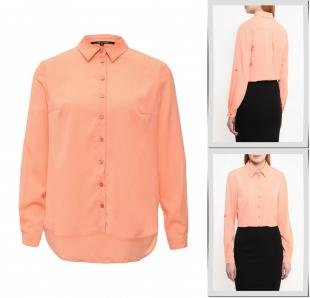 Коралловые блузки, блуза tom farr, весна-лето 2016
