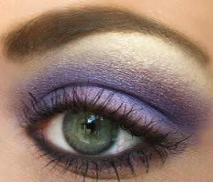 Арабский макияж для серых глаз, насыщенный сиреневый макияж глаз