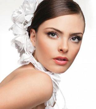 Свадебный макияж с нарощенными ресницами, естественный свадебный макияж для карих глаз