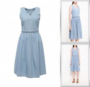 Голубые платья, платье джинсовое bestia, весна-лето 2016
