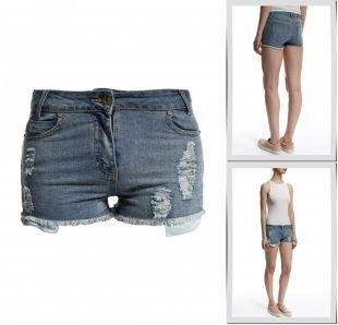 Синие шорты, шорты джинсовые people, весна-лето 2015