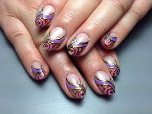 Маникюр с фольгой, дизайн ногтей с помощью фольги