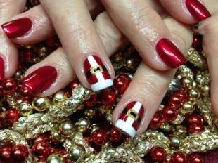 Новогодние рисунки на ногтях, дизайн ногтей в стилистике нового года
