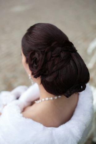 Свадебные прически с косой на длинные волосы, роскошная свадебная укладка на длинные волосы