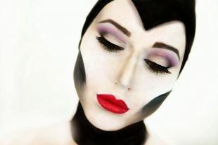 Макияж на Хэллоуин, макияж на хэллоуин - злобная волшебница малефисента