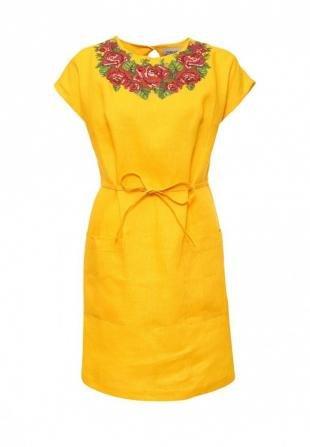 Желтые платья, платье indiano natural, весна-лето 2016