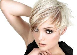 Цвет волос платиновый блондин, прическа на новый год на короткие волосы