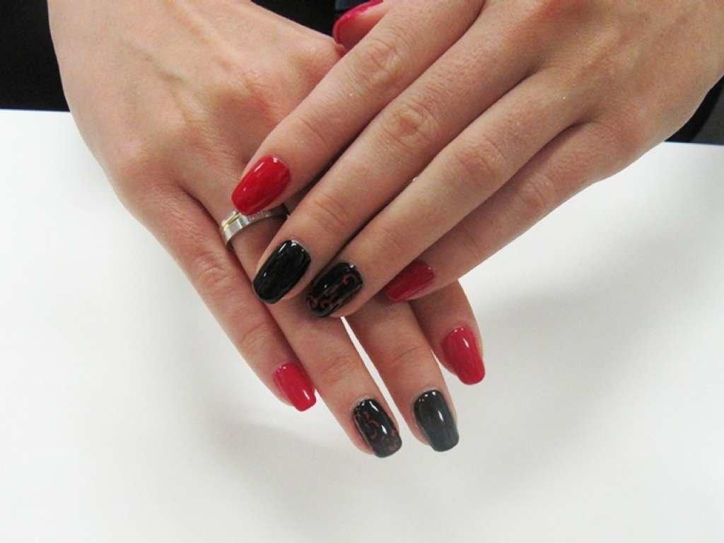 красно-черный шеллак фото