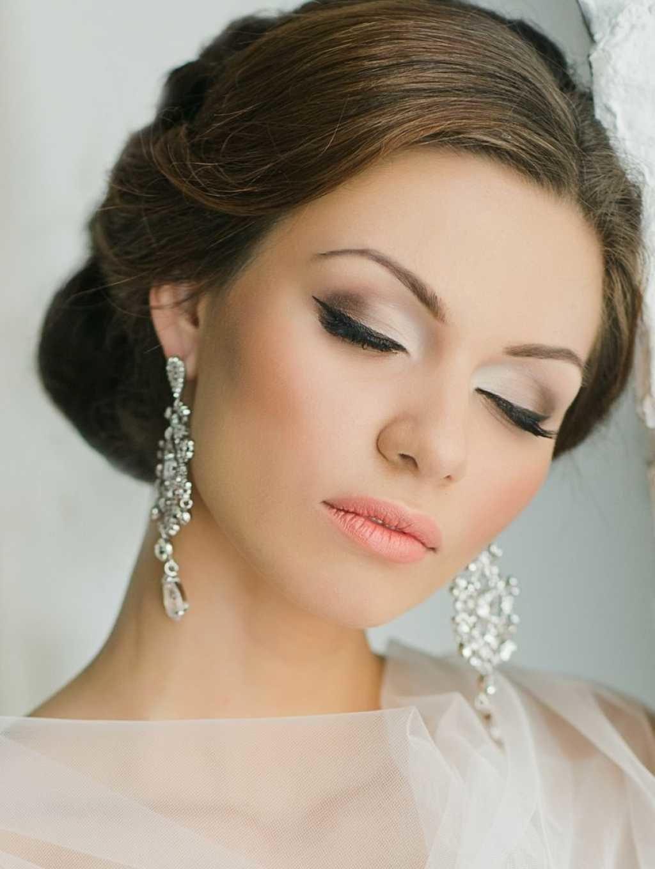Свадебный макияж для карих глаз светлых волос фото
