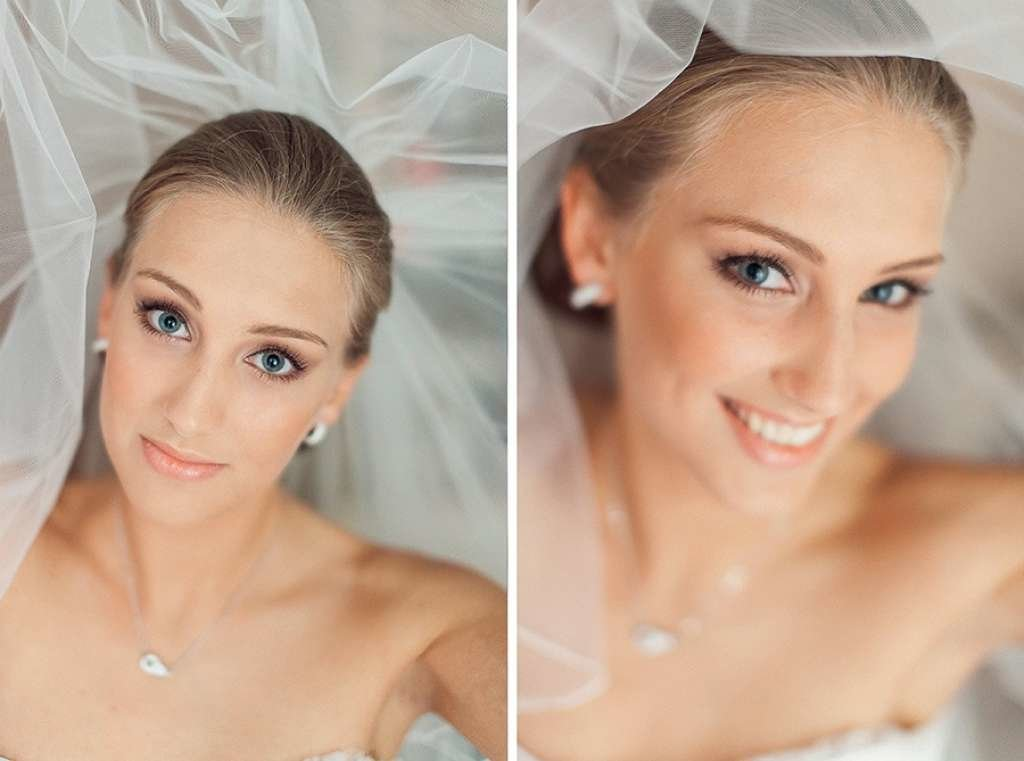 Макияж на свадьбу блондинка голубые глаза