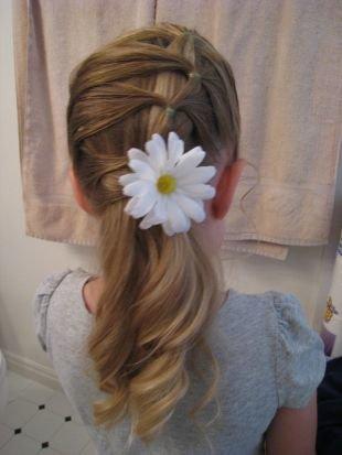 Цвет волос темный блондин на длинные волосы, оригинальная прическа в детский сад