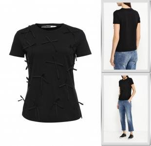 Черные футболки, футболка sportmax code, осень-зима 2016/2017