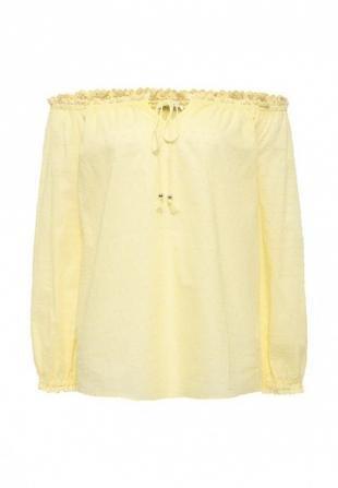 Желтые блузки, блуза zarina, весна-лето 2016