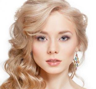 Свадебный макияж для круглого лица, красивый макияж на выпускной в пастельных тонах