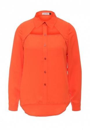 Оранжевые блузки, блуза lamania, весна-лето 2016