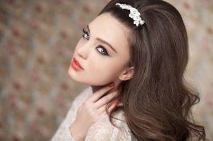 """Свадебный макияж для серо-голубых глаз, свадебный макияж """"кошачий глаз"""""""