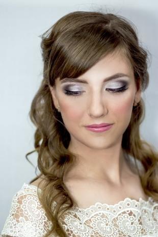 Макияж для далеко посаженных глаз, свадебный макияж для темно-русых волос