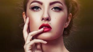 Макияж на каждый день для серых глаз, макияж с широкими стрелками