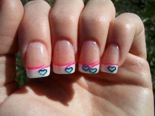 """Простейшие рисунки на ногтях, классический френч для формы ногтей """"лопатка"""""""