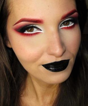 Легкий макияж на хэллоуин, макияж на хэллоуин - невеста дракулы