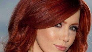 Макияж под персиковое платье, макияж для зеленых глаз и рыжих волос