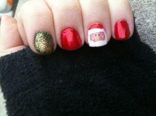 Маникюр на широкие ногти, новогодний маникюр на короткие ногти