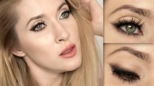 Макияж для зелено-голубых глаз, повседневный макияж смоки айс