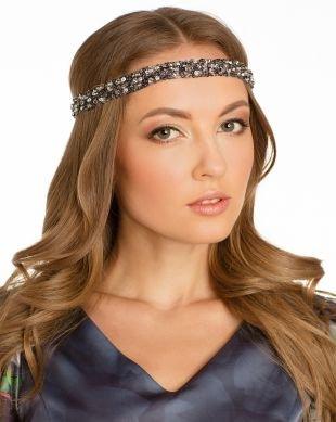 Прически с кудрями на длинные волосы, греческая прическа с повязкой