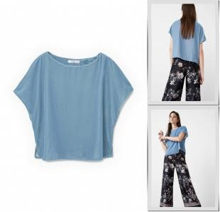 Голубые блузки, блуза mango, осень-зима 2016/2017
