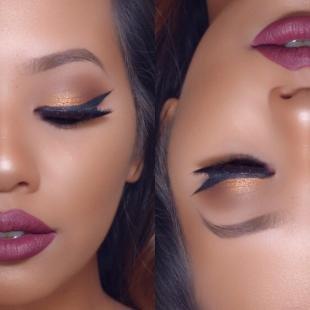 Вечерний макияж для зеленых глаз, яркий вечерний макияж для брюнеток