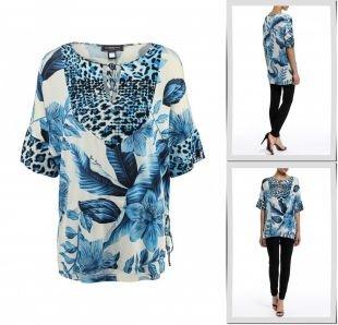 Голубые туники, туника roccobarocco knitwear, весна-лето 2015