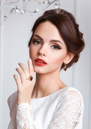 Красивый макияж, свадебный макияж для светло-коричневых глаз