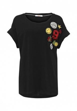 Черные футболки, футболка bright girl, весна-лето 2016