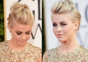 Цвет волос песочный блондин, красивая укладка на средние волосы