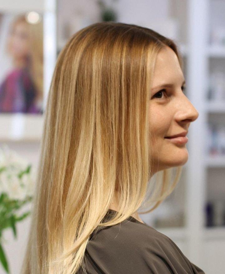 Калифорнийская техника мелирования на светлые волосы